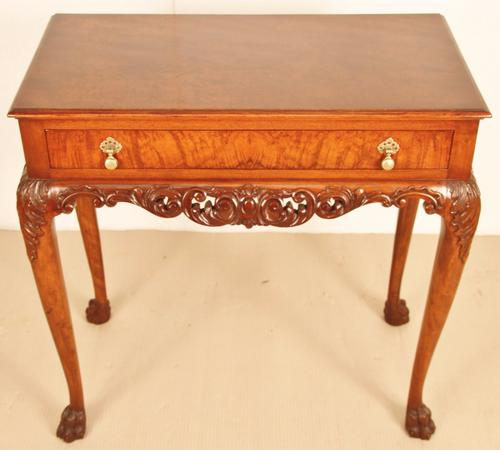 Burr Walnut Lamp Table c.1910 (1 of 1)