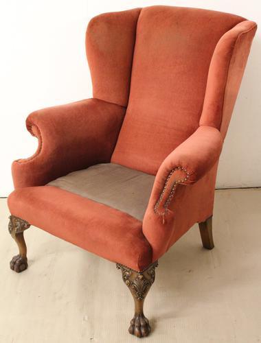 Walnut Wing Armchair c.1900 (1 of 1)