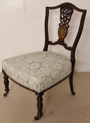 Late Victorian Inlaid Chair c.1890 (1 of 1)