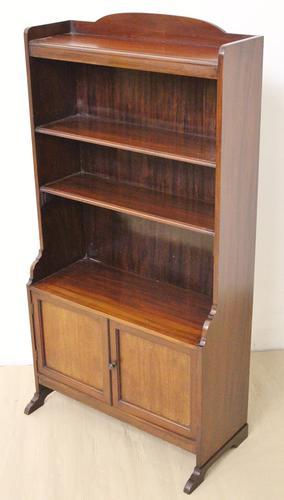 Edwardian Mahogany Open Bookcase (1 of 9)