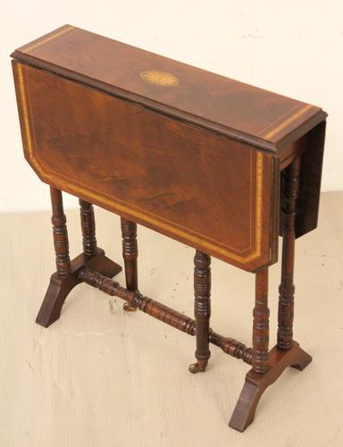 Inlaid Mahogany Sutherland Table (1 of 1)