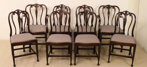 Set of 8 Mahogany Hepplewhite Style Dining Chairs (1 of 1)