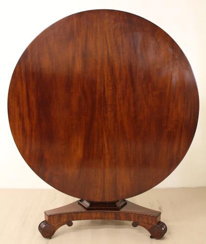 Round Mahogany William IV Table (1 of 1)