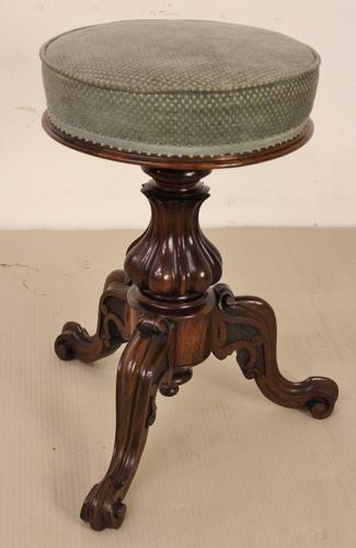 Victorian Rosewood Revolving Piano Stool (1 of 1)