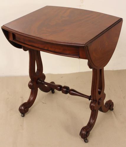 Victorian Mahogany Flap Table / Lamp Table c.1855 (1 of 1)