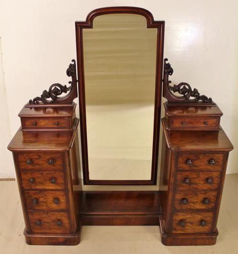 Victorian Mahogany Dressing Chest / Mirror c.1860 (1 of 14)