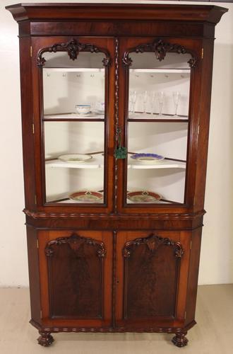 Large Victorian Mahogany Corner Cabinet (1 of 12)