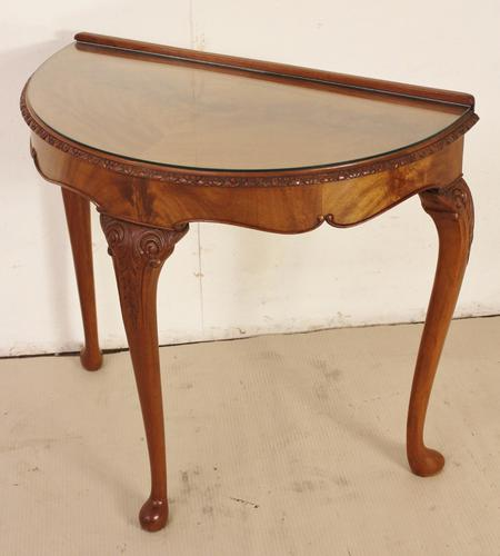 Burr Walnut Console Table c.1920 (1 of 1)