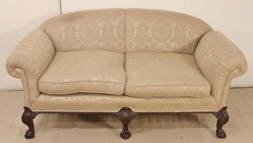 Mahogany Chippendale Style Settee c.1900 (1 of 1)