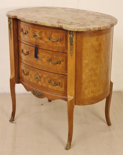 Bow Ended French Marble Topped Commode c.1900 (1 of 1)