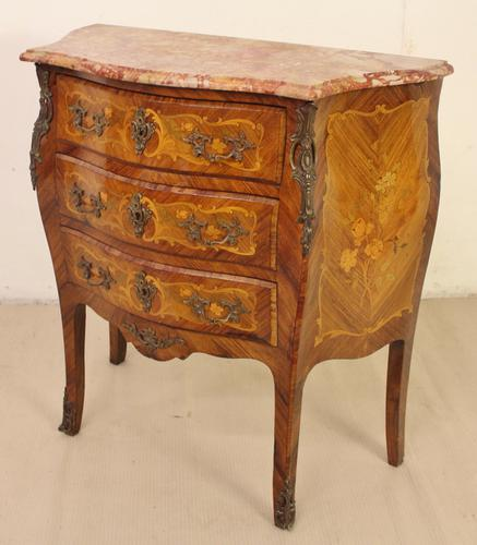 Serpentine Fronted French Marble Topped Commode c.1900 (1 of 1)