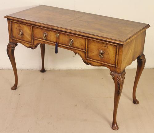 Queen Anne Style Burr Walnut Side Table c.1890 (1 of 1)
