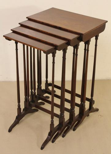 Rosewood Nest of 4 Tables c.1825 (1 of 1)