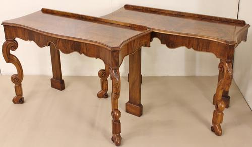 Pair of Burr Walnut Console Tables (1 of 1)