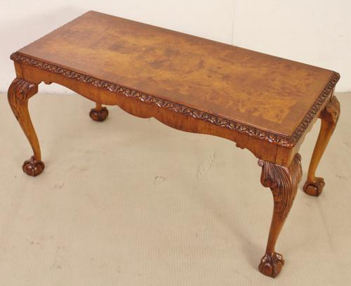 Rectangular Burr Walnut Coffee Table c.1920 (1 of 1)