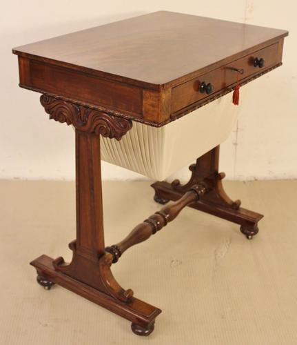 William IV Flame Mahogany Work Table (1 of 1)