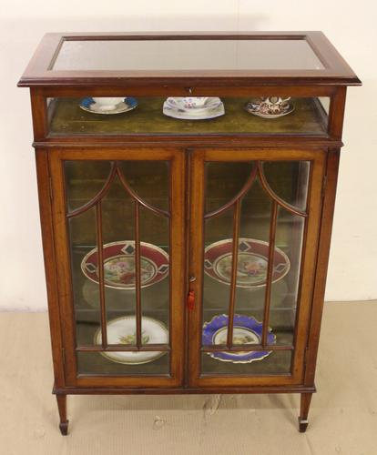 Edwardian Inlaid Mahogany Bijouterie Table & Cabinet (1 of 1)