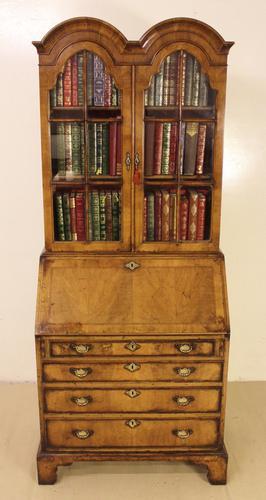 Dome Topped Walnut Bureau Bookcase c.1900 (1 of 18)