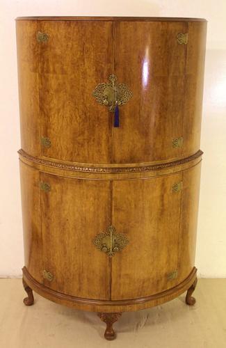 Art Deco Burr Walnut Cocktail Cabinet (1 of 1)
