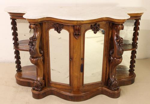 Victorian Walnut Marble Topped Chiffonier (1 of 1)