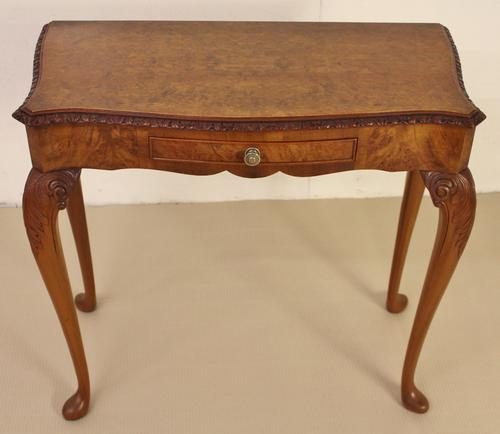 Burr Walnut Side Console Table c.1920 (1 of 13)