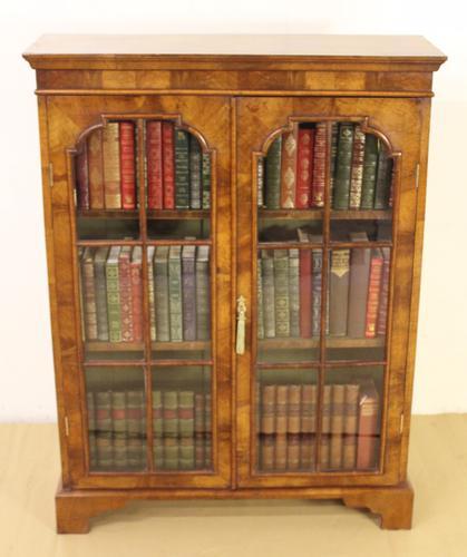 Burr Walnut Glazed Bookcase c.1900 (1 of 1)