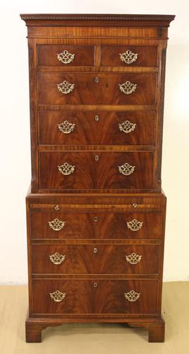 Mahogany Chippendale Style Chest on Chest c.1900 (1 of 1)