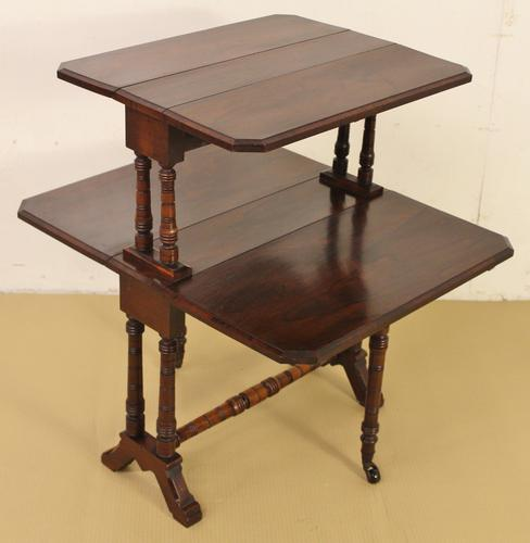 Rosewood 2 Tier Sutherland Table c.1890 (1 of 1)