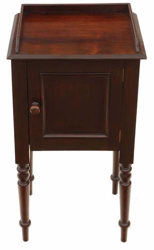 Mahogany Bedside Table Pot Cupboard (1 of 6)