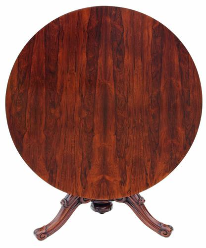 Victorian 19th Century Rosewood Loo Breakfast Centre Table Tilt Top (1 of 17)