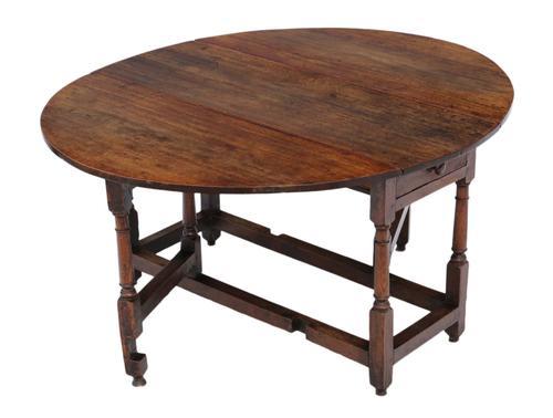 18th Century Oak Gate-Leg Drop Leaf Dining Table (1 of 9)