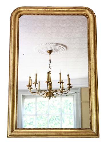 19th Century Quality Gilt Overmantle Wall Mirror (1 of 6)