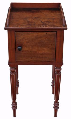 Mahogany Bedside Table / Cupboard / Cabinet (1 of 9)
