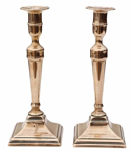 Pair of 19th Century Brass Candlesticks (1 of 1)