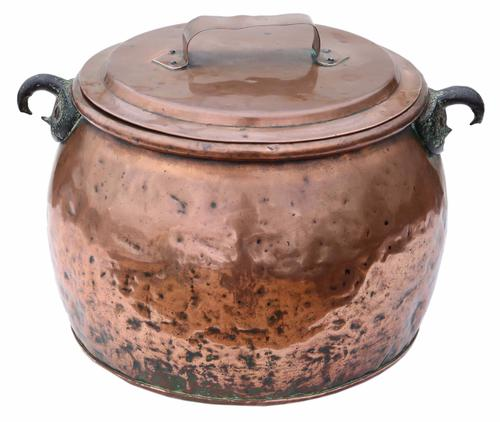 Victorian Copper Cook Pot Pan Planter (1 of 1)