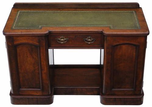 Victorian Burr Walnut Twin Pedestal Desk / Writing Table (1 of 1)