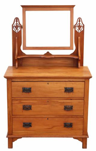 Satinwood Dressing Table Chest of Drawers Art Nouveau C.1910 (1 of 1)
