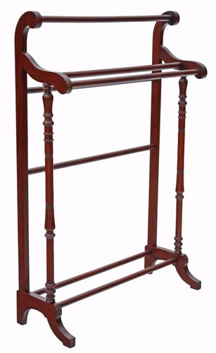 Victorian Mahogany Towel RAil Stand C.1890 (1 of 1)