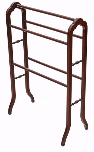 Victorian Mahogany Towel RAil Stand (1 of 1)