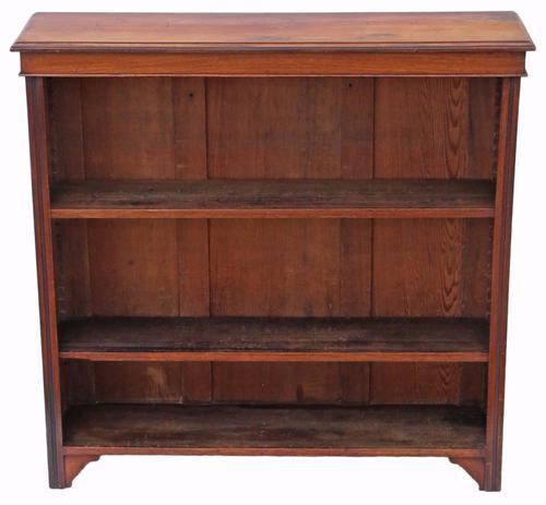 Victorian Adjustable Walnut Open Bookcase C.1900 (1 of 1)