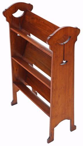 Art Nouveau Walnut Book Trough or Bookcase C.1910 (1 of 1)