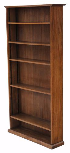 Large Adjustable Oak Bookcase c.1920 (1 of 1)