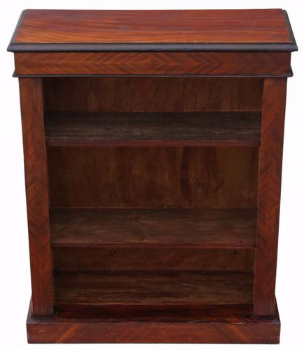 Victorian Adjustable Mahogany Open Bookcase C.1890 (1 of 1)
