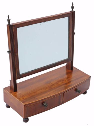 Mahogany Swing Dressing Table Mirror Toilet c.1825 (1 of 1)