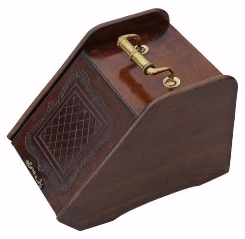 Mahogany Coal Scuttle Box or Purdonium C.1900 (1 of 1)