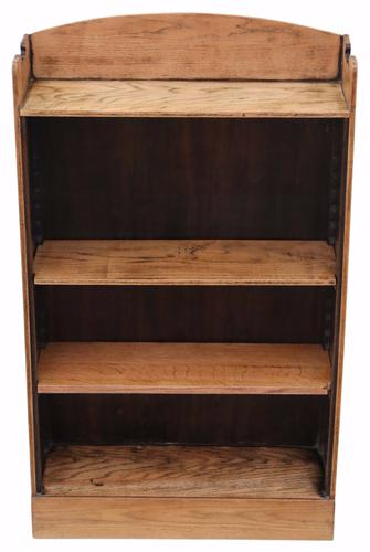 Adjustable Oak Open Bookcase c.1925 (1 of 1)