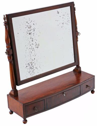Mahogany Toilet Swing Dressing Table Mirror C.1825 (1 of 1)
