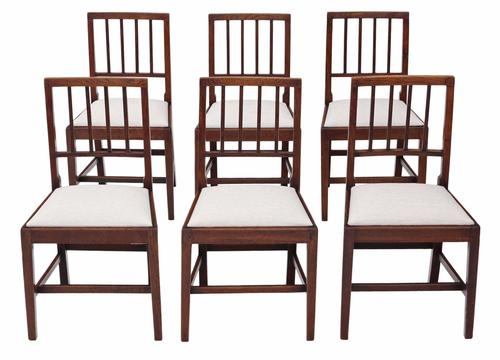 Set of 6 Victorian Oak Dining Chairs C.1850 (1 of 1)