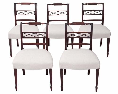 Set of 5 Mahogany Dining Chairs c.1825 (1 of 1)