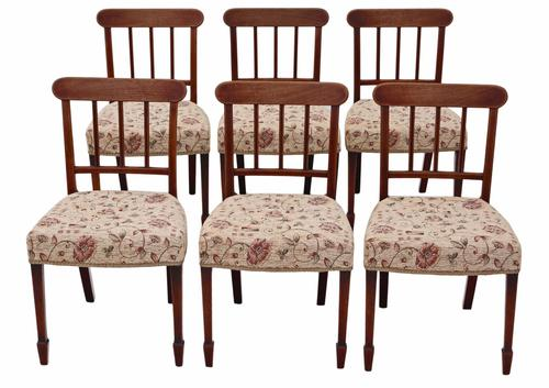 Set of 6 Victorian Mahogany Dining Chairs c.1850 (1 of 1)